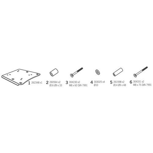 トップマスターフィッティングキット ゴールドウイング GL1800F6B(18-19)