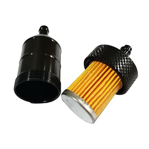 ガソリンフィルター 8mm アルミ ブラック