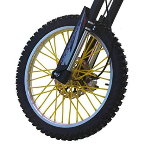 バイクホイール用 スポークカバー 72本セット 24cm イエロー