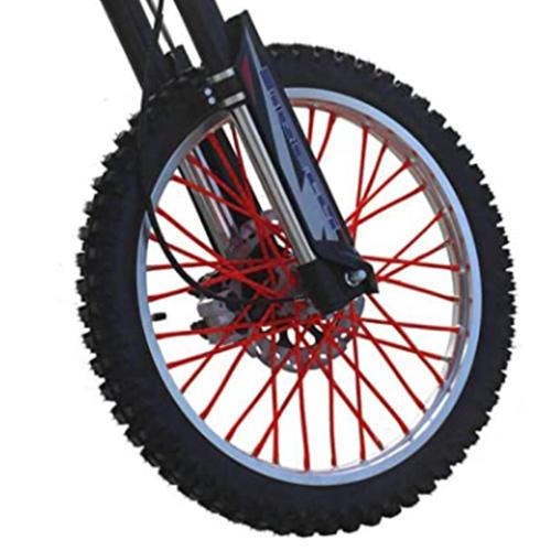 バイクホイール用 スポークカバー 72本セット 24cm レッド