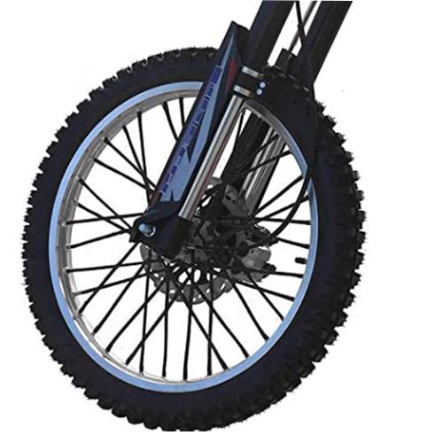 バイクホイール用 スポークカバー 72本セット 24cm ブラック