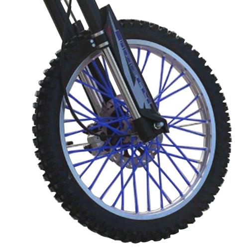 バイクホイール用 スポークカバー 72本セット 24cm ブルー