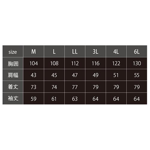 長袖シャツ アイボリー 6L