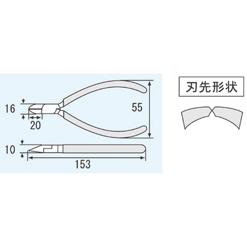 強力ニッパー(穴付) NK-26