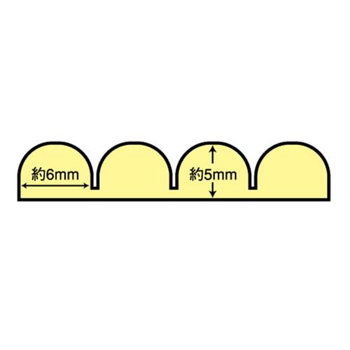 波型クッションスリム ライトグレー