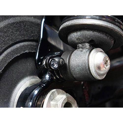 リアウインカー テールライトブラケット リアサスペンション共締タイプ Bullet Atto/RhombusS/microS ブラック