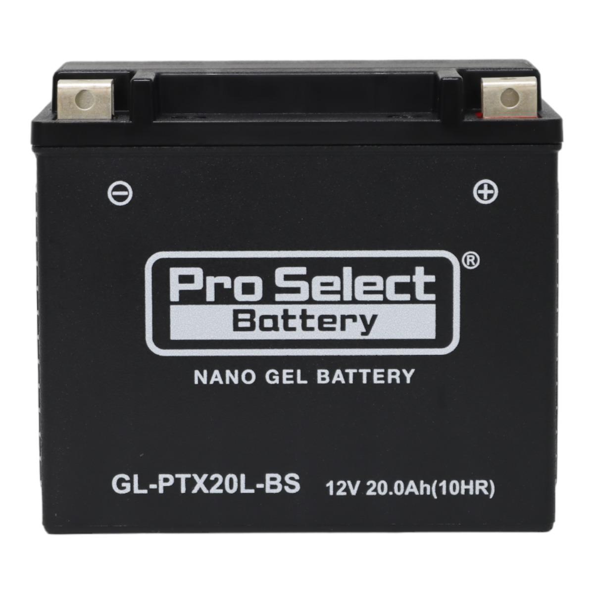 GL-PTX20L-BS (YTX20L-BS 互換)(ジェルタイプ 液入り充電済み)