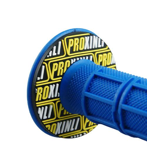 ハンドルグリップ オフロード用 ブルー 118mm