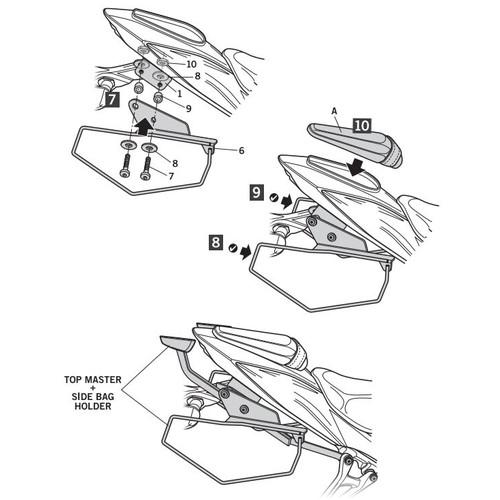 サイドバッグホルダー GSX750S(17-19)