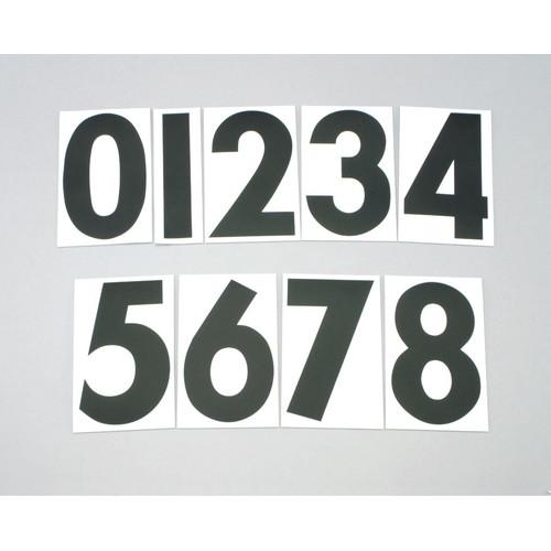 ゼッケンステッカー ブラック 大/番号:0