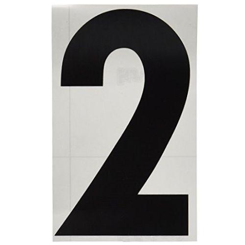 ゼッケンステッカー ブラック 大/番号:2