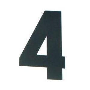 ゼッケンステッカー ブラック 大/番号:4