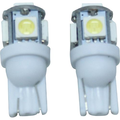 3chip 5連高輝度LED T10バルブ ホワイト 2個セット