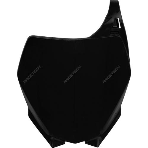 RACETECH TBYZ0NR0006 フロントナンバープレート ブラック YZ125/250