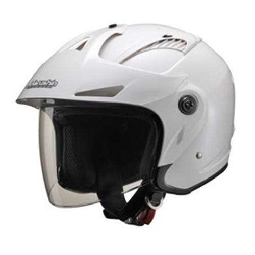 M-385 ツバ付ジェットヘルメット ホワイトメタリック フリーサイズ