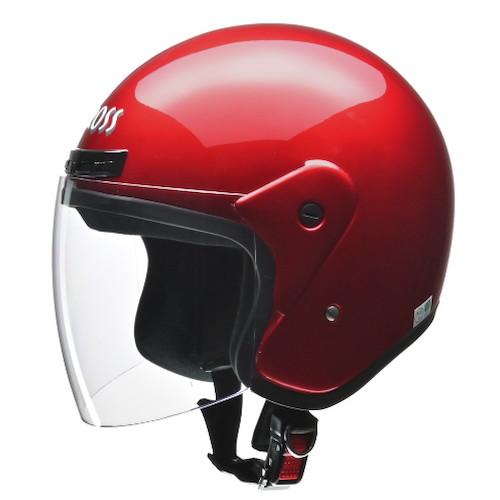 CROSS CR-720 ジェットヘルメット キャンディーレッド