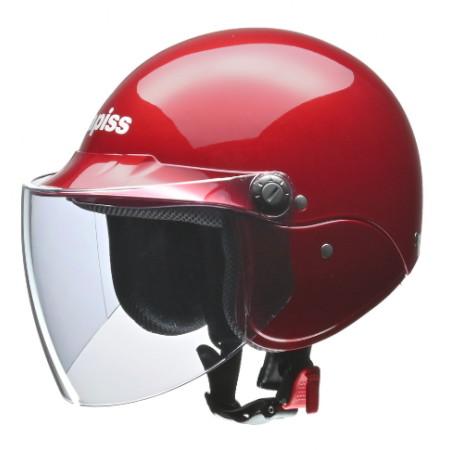 apiss AP-603 セミジェットヘルメット キャンディレッド