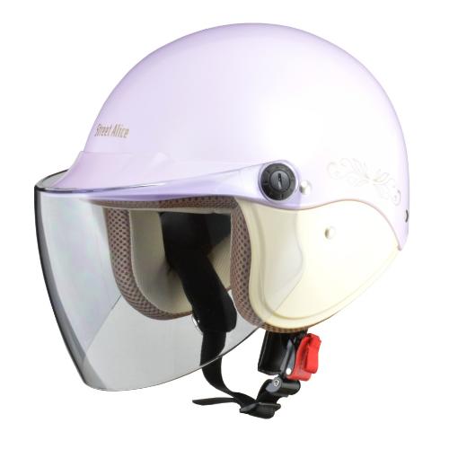 Street Alice QJ-3 セミジェットヘルメット パールパープル