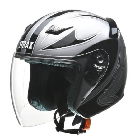 STRAX SJ-9 ジェットヘルメット シルバー L