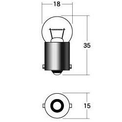 【ケース売り】ヘッド球 B5009 6V15W G18 BA15S