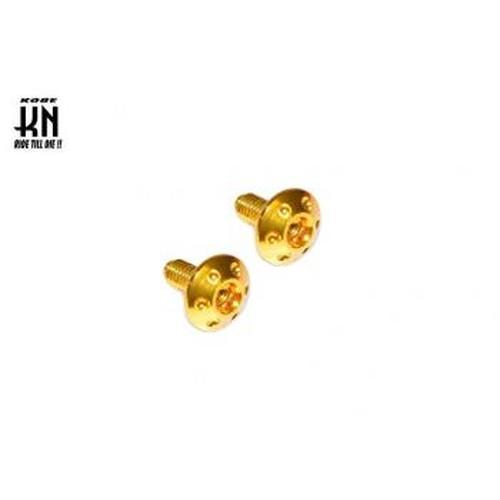 ドレスアップアルミボルト(M6)ゴールド(2個入)