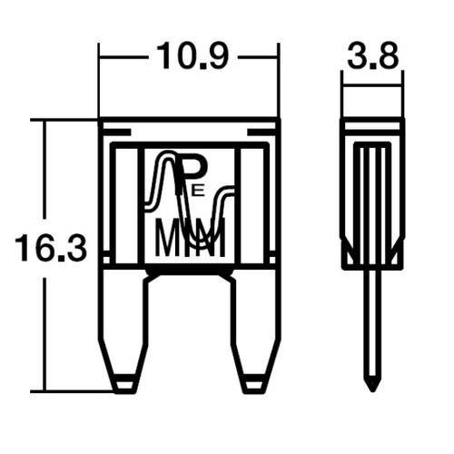 NO354 BPF-7150 15Aミニヒューズ