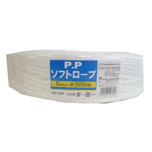 PPソフトロープ 白 5MM×300M
