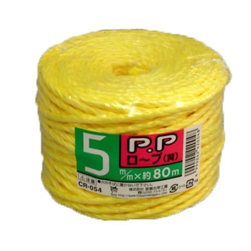PPロープ 黄 5MM×80M