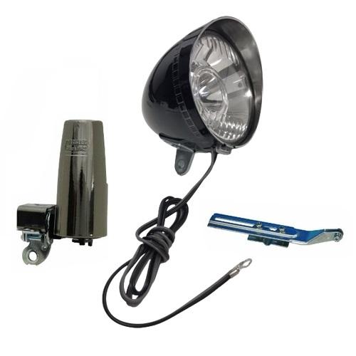 砲弾型LEDヘッドライト 黒メッキ