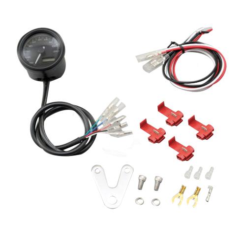 VELONA 電気式タコメーター(パルスジェネレーター無し)15000rpm ブラックボディ 3色LED