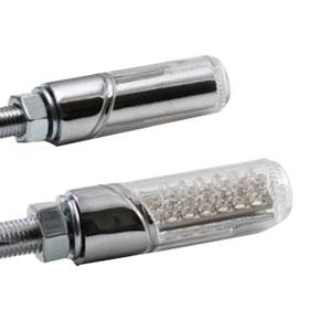 汎用LED円柱形ミニランプ [STARTECH] クリアーレンズ/メッキボディー B01113-1CCP
