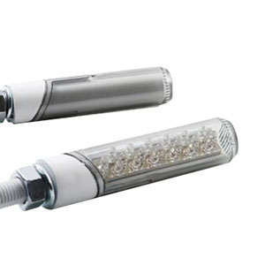 汎用LED円柱形ミニランプロング [STARTECH] スモークレンズ/ホワイトボディー