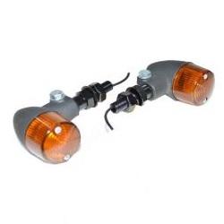 汎用ウインカーキット (ブラックボディー/オレンジ) シングル球