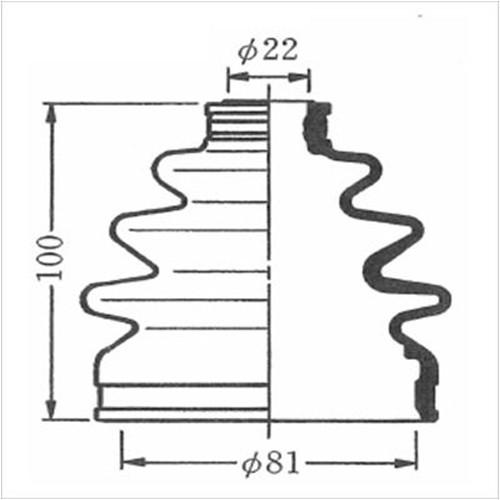600-00104 (SB104) ドライブシャフトブーツキット
