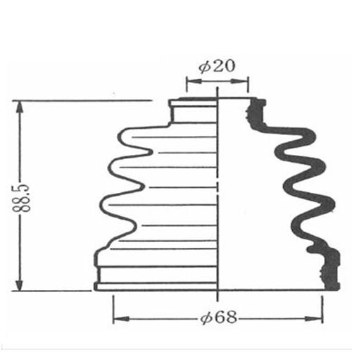 600-00053 (SB53) ドライブシャフトブーツキット