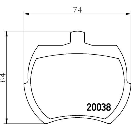 2003801 ブレーキパッド