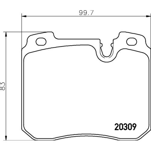 2030903 ブレーキパッド