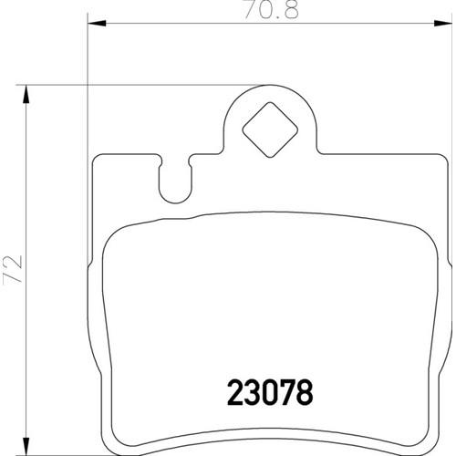 2307881 ブレーキパッド