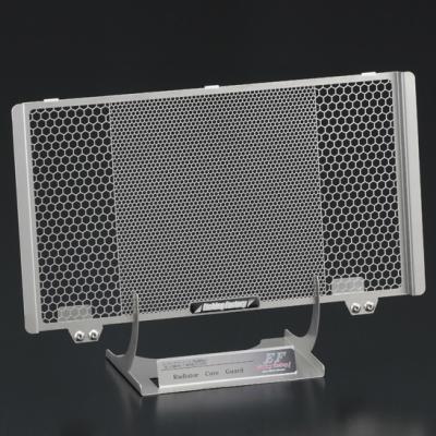 ZZR1100-D型(93〜01)用 ラジエター&オイルクーラーガードSET エンブレムカラー:レッド