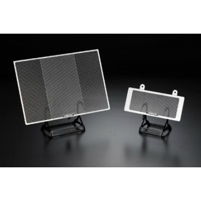 GSX-R1000(03〜04)用 ラジエター&オイルクーラーガードSET エンブレムカラー:ブラック