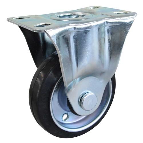 SJシリーズ 鉄板ホイルゴムキャスター固定車