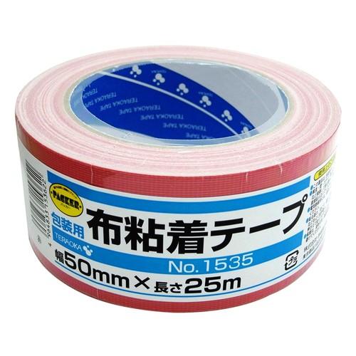 カラー布粘着テープ NO.1535 レッド 50mm×25m
