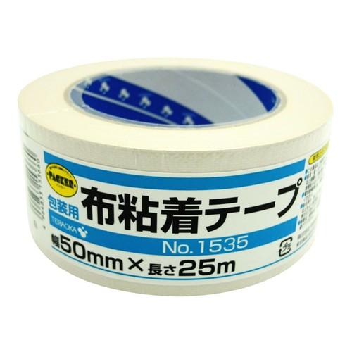 カラー布粘着テープ NO.1535 ホワイト 50mm×25m