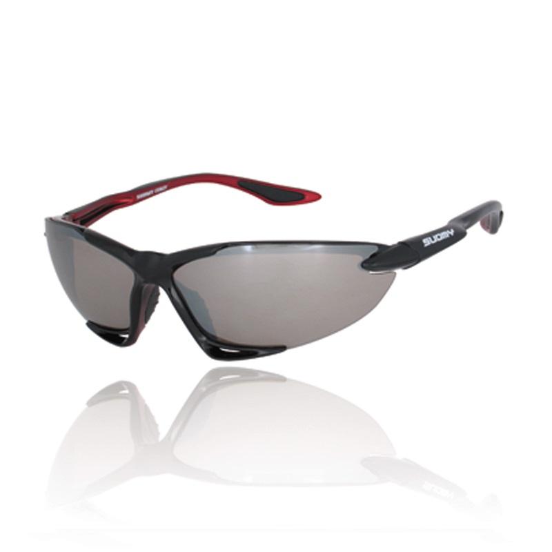 SUOMYサングラス ブラックレッド/ブラウンシルバーミラー SU003BRS