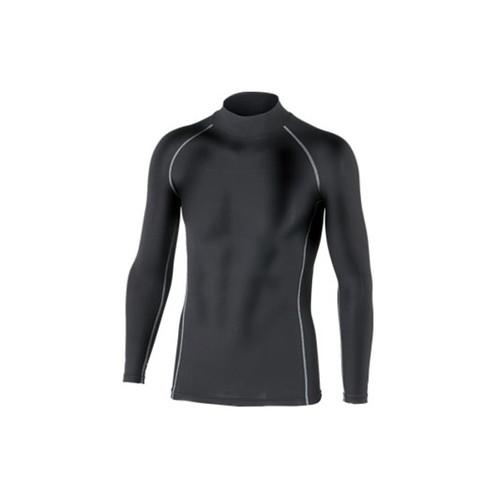 BTパワーストレッチ ハイネックシャツ ブラック LLサイズ