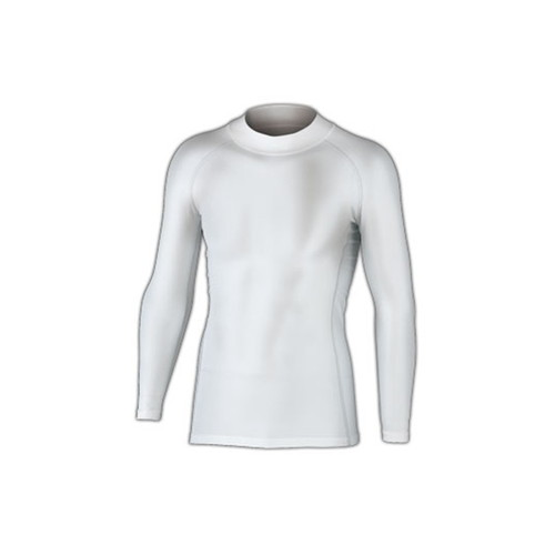 BTパワーストレッチ ハイネックシャツ ホワイト Lサイズ
