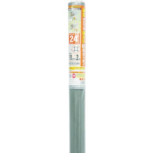 クラウンネット 24メッシュ 91cm×2m グレイ
