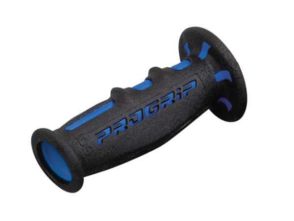 スーパーバイクグリップ#601 耐震GEL 120mm 貫通 ブルー/ブラック