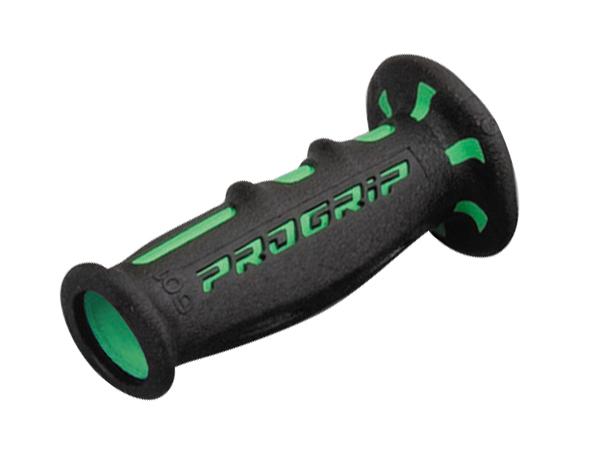 スーパーバイクグリップ#601 耐震GEL 120mm 貫通 グリーン/ブラック