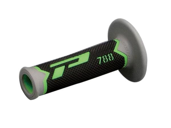オフロード用グリップ#788 耐震GEL 115mm 貫通 グリーン